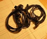 Кабели питания,  портативные компьютерные шнуры питания (3-и зуб) б/у.